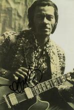 AMERICA: CHUCK BERRY SIGNED PHOTO.