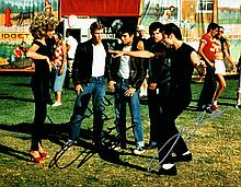 JOHN TRAVOLTA AND OLIVIA NEWTON JOHN SIGNED GREECE PHOTO.
