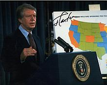 JIMMY CARTER SIGNED PHOTO.