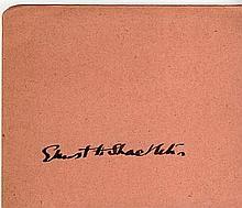 ERNEST HEMINGWAY SIGNED PAPER.