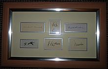 RARE COLLECTION OF WWII SIGNATURES.