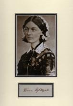 FLORENCE NIGHTINGALE SIGNED PAPER.