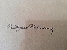 RUDYARD KIPLING SIGNED PAPER.