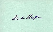 CHARLIE CHAPLIN SIGNED PAPER.