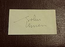 JOHN LENNON SIGNED PAPER.