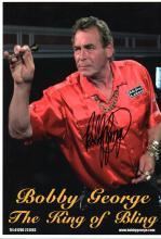 BOBBY GEORGE SIGNED PHOTO.