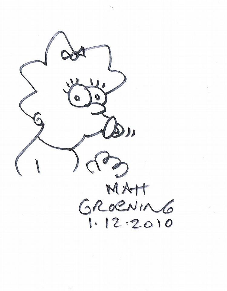 Maggie Simpson Drawings Maggie Simpson Matt Groening