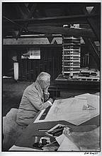 BILL RAY SIGNED FRANK LLOYD SILVER GELATIN PRINT.