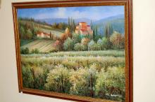 Painting - Italian Farm Scene - untitled
