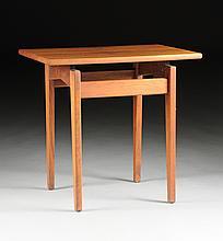 JENS RISOM (Danish/American b. 1916) A WALNUT AND LAMINATE END TABLE, MODEL T-438, FOR JENS RISOM DESIGNS, INC, NEW YORK, NEW YORK, 1957,