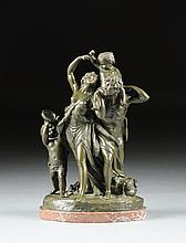 after CLAUDE MICHEL CLODION (French 1738-1814), A PATINATED BRONZE BACCHANALIAN GROUP,