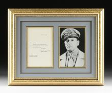 GENERAL DOUGLAS MacARTHUR (1880-1964) A SIGNED TYPEWRITTEN LETTER, DATED FEBRUARY 15, 1956,