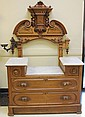 AMERICAN RENAISSANCE REVIVAL WALNUT DRESSER with marble top note: missing mirror estimate 800-1200