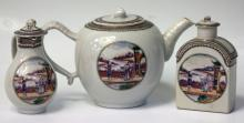 SET OF CHINESE EXPORT TEA SERVICE, 19TH CENTURY