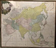 LAURIE & WHITTLE, LONDON 1799- MAP OF ASIA