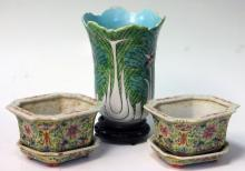 LOT OF (3) PCS. CHINESE PORCELAIN