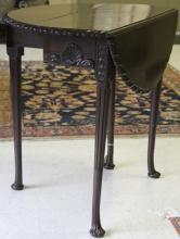 GEORGIAN MAHOGANY DROP LEAF TABLE, 1800'S