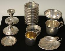 LOT OF (19) STERLING SILVER PCS.