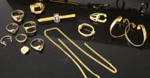 LOT OF MISCELLANEOUS JEWELRY, SOME 14KT OR HIGHER