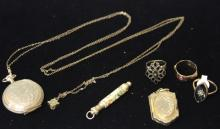 LOT OF (6) VICTORIAN 14KT JEWELRY