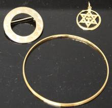 LOT OF (3) JEWELRY, SOME 14KT