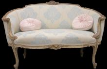 FRENCH CARVED SETTEE, 19TH CENTURY