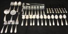 KIRK AND SON STERLING SILVER FLATWARE, (41) PCS.