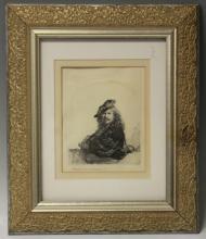 REMBRANDT ETCHING, 19TH CENTURY
