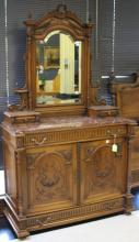 FRENCH RENAISSANCE CARVED WALNUT BEDROOM SET