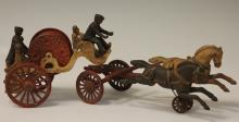 CAST IRON FIRE TOY CARRIAGE