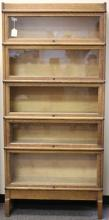 MACEY OAK FIVE SECTION STACKING BOOKCASE