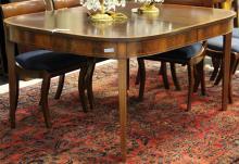 AMERICAN SHERATON INLAID DINING TABLE