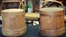 LOT OF (2) EARLY COUNTRY BUCKETS, 19TH CENTURY