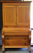 SHERATON SYTLE WRITING DESK WITH BOOKCASE TOP