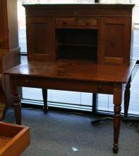 EARLY AMERICAN RAILROAD DESK, WITH SHELF TOP