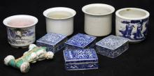 LOT OF (9) CHINESE PORCELAIN- BOWLS, FIGURES
