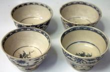 SET OF (4) VIETNAMESE BOWLS-HOI AN HOARD GROUP