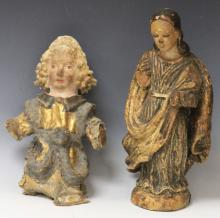 LOT OF (2) 18TH/19TH CENTURY RELIGIOUS FIGURES