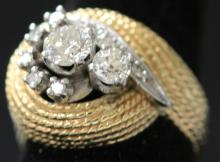 VINTAGE DIAMOND LADY'S 14KT RING