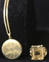 LOT OF (2) VINTAGE JEWELRY, 14KT
