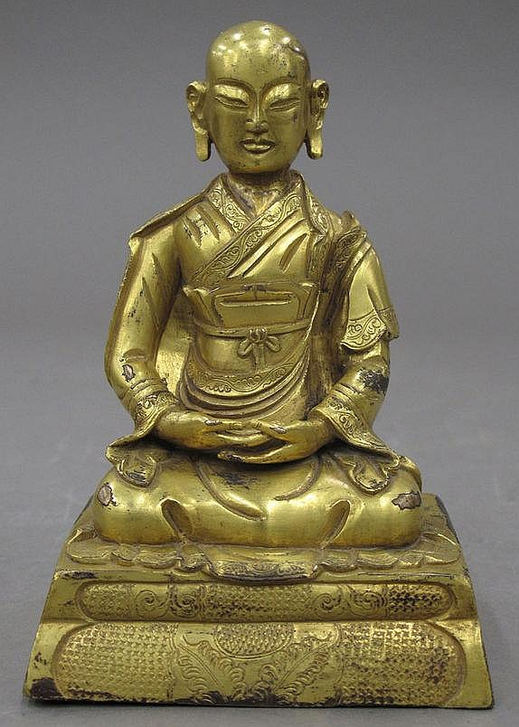 GOLD GILDED BUDDHA height- 5 3/4