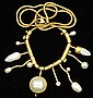 VINTAGE 14KT NECKLACE             with pearls             estimate 400-600