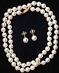 VINTAGE PEARL NECKLACE             with matching earrings             estimate 400-600