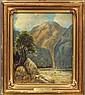 FRANK J. GIRARDIN (1865-1945)             OIL ON BOARD             Title- Sespe Condor Sanctuary             estimate 600-900