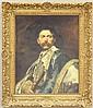 FERDINAND ROYBET, Oil on Board             Portrait             sight- 24 1/4