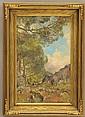 POMPEO MARIANI (1857-1927)             OIL ON CANVAS, landscape             sight- 14