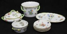 PARTIAL DINNER SERVICE- HEREND PORCELAIN CHINA