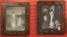LOT OF (2) PAIRS OF DECORATIVE WORKS, FRAMED