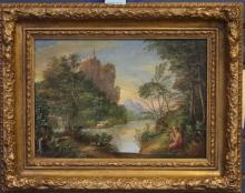 SIGNED MARTIN, PAIR OF EUROPEAN  OIL ON CANVAS