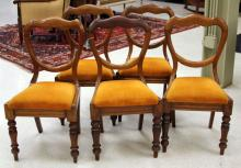 SET OF (6) VICTORIAN BALLOON BACK CHAIRS